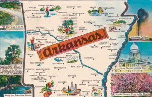 Map Of Arkansas 1965