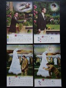 THORA - WW1 Bamforth Song Cards set of 4 No 4939