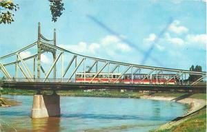 Arad Romania Bridge over Mures River Chrome