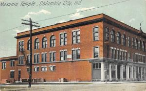 Columbia City Indiana~Masonic Temple~Hudson Dry Goods Store~Ground Floor~1910 PC