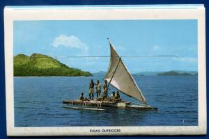 Loloma Fiji Crown Colony chrome postcard folder