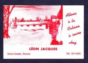 Sucre Chez Leon Jacques SAINT JOSEPH DE BEAUCE QUEBEC