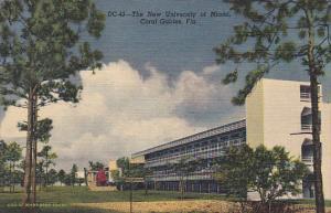 New University Of Miami Coral Gables Florida 1949 Curteich