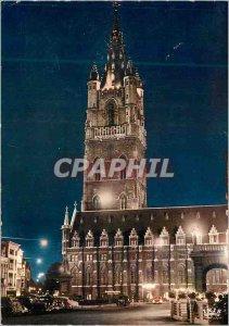 Postcard Modern Gent Ghent Belfry Illumination