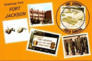 Greetings From Fort Jackson South Carolina With Multi Views