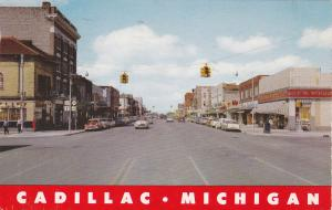 Main Street , CADILLAC , Michigan , PU-1958