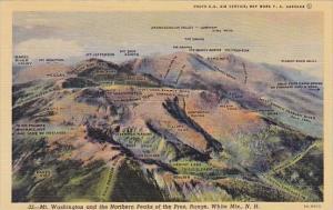 Mount Washington And The Northern Peaks Of The Pres Range White Mountains New...