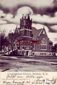 pre-1907 CONGREGATIONAL CHURCH, YANKTON, S.D. 1908
