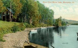 VT - Montpelier. Mirror Lake, Shore View
