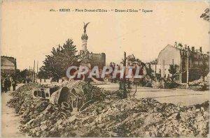 Old Postcard Reims Place Drouet d'Erlon