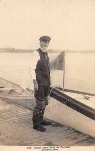 Annisquam Massachusetts Captain Albert Davis The Ferryman Real Photo PC AA1242