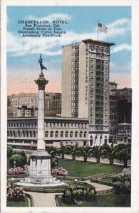 California San Francisco The Chancellor Hotel 1938