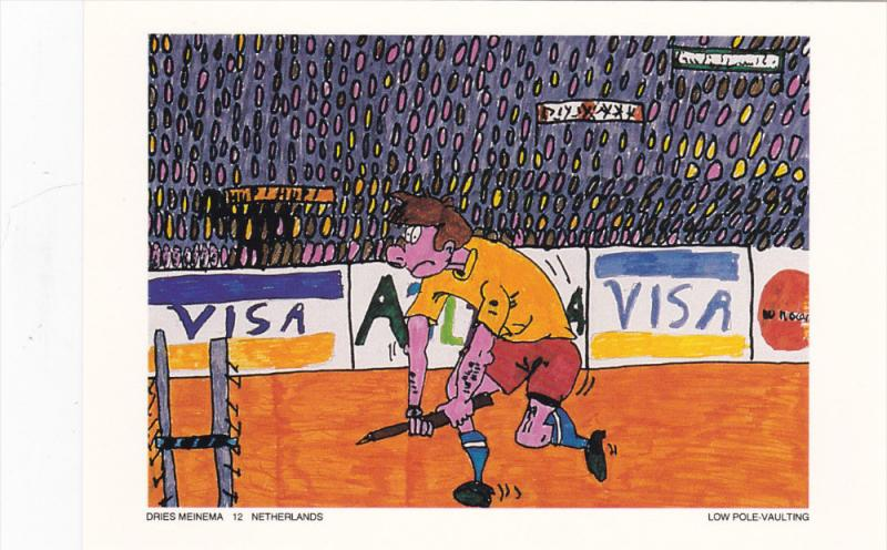 Olympic Games ; ATLANTA 1996 : New Olympic Sport Contest postcard : Low Pole ...