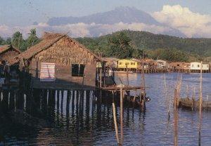 Bengkabong Water Village Map Malaysia Rare Postcard