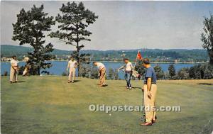 Old Vintage Golf Postcard Post Card The Concord Hotel Kiamesha Lake, New York...