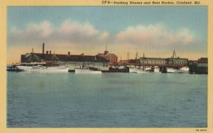 CRISFIELD , Maryland , 1930-40s ; Packing Houses & Boat Harbor