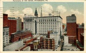PA - Philadelphia. Panorama of 13th Street