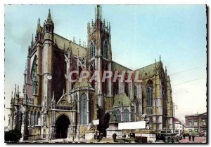 Modern Postcard Metz Moselle Cathedral Facade South Side is