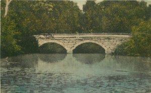 Hand Colored Morison Bridge Peterborough New Hampshire Steel'es Postcard 10141
