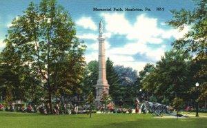 Hazleton, Pennsylvania, PA, Memorial Park, Linen Vintage Postcard g2373