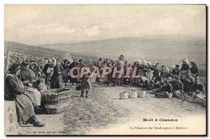 Old Postcard Folklore Wine Vineyard Harvest Champagne breakfast The pickers i...