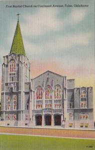 Oklahoma Tulsa First Baptist Church On Cincinnati Avenue