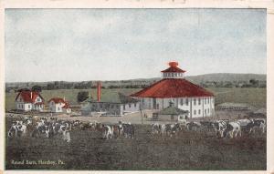 Hershey Pennsylvania~Round Barn~Dairy Cows Graze in Farm Yard~1915 Postcard