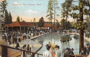 Spokane Washington~Natatorium Park~Victorian Ladies-Fancy Hats~People @ Pond~'09