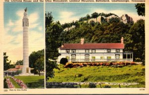 Tennessee Chattanooga Lookout Mountain Battlefield Cravens House and Ohio Mon...