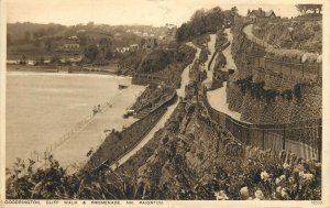 Postcard UK England Paignton, Devon Goodrington cliff walk