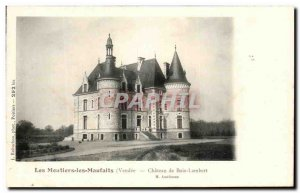 Old Postcard Chateau Les Moutiers the Maufaits wood Lambert