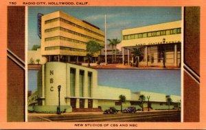 California Hollywood Radio City New Studios Of CBS and NBC 1952