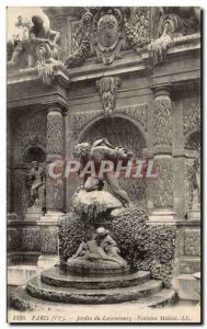 Paris - 6 - Jardin Du Luxembourg - Fountain of the Medicis - Old Postcard
