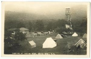 Camping at Indian Head, White Mts., New Hampshire, unused real photo Postcard RP