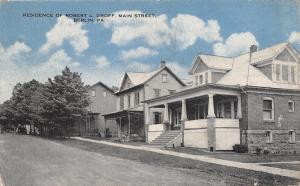 Berlin PA~Main Street Homes~R L Groff Home~Pres Buffalo Creek Coal Mining~1923