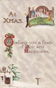 At Xmas Wishing you a heap of Jpy and Happiness, Winter scene, Mother and chi...