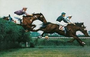 OCEANPORT, New Jersey, 40-60s;  Monmouth Park, Horse Racing, Hurdles