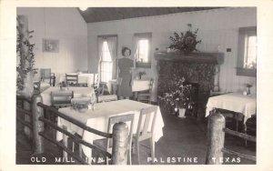 Palestine Texas Old Mill Inn Real Photo Vintage Postcard AA31587