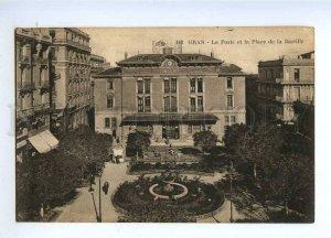 191056 Algeria ORAN Post Bastille square Vintage postcard