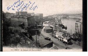 BREST, Finistere, France, 1900-1910's; Le Chateau Et Le Port De Guerre