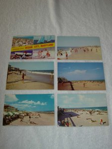 Ocean City MD - Lot Of 6 Great Vintage Postcards - x0523