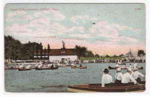 Canoe Club Lakeside Akron Ohio 1915 postcard