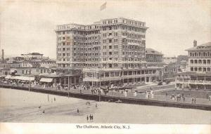4999  NJ Atlantic City 1907 The Chalfonte Hotel and Boardwalk view from Beach