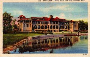 Michigan Detroit Belle Isle Park Casino and Lagoon Curteich