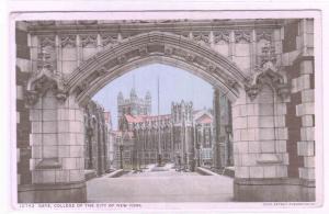 Gate Colllege of City of New York NY 1913 Phostint postcard