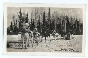 RPPC North Northern Travel by Dog Sled, Permission of Base Army Examiner Alaska?