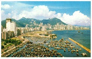 Victoria Looking Down From East District Hong Kong Postcard PC1056