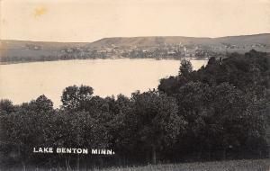 Lake Benton Minnesota~Town Across Water~Shoreline~Winona & Huron RPO~1914 RPPC