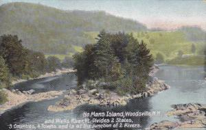 Scenic view,  No Mans Island and Wells River,  Woodsville,  New Hampshire,  0...
