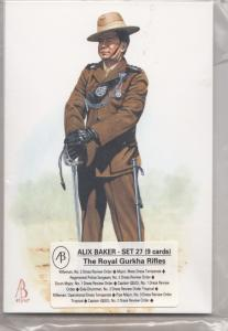 The Royal Gurkha Rifles Uniform 9x Military Postcard Set New